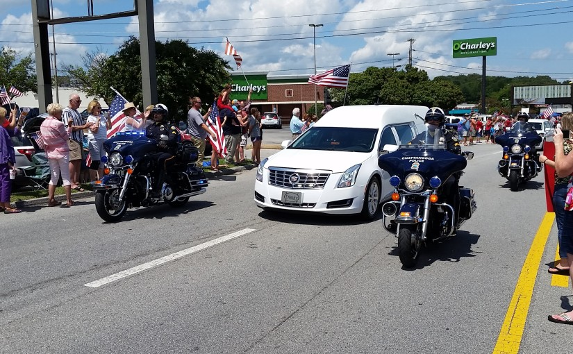 Some Perspective From The Funeral Procession of A Fallen Marine in Chattanooga Yesterday