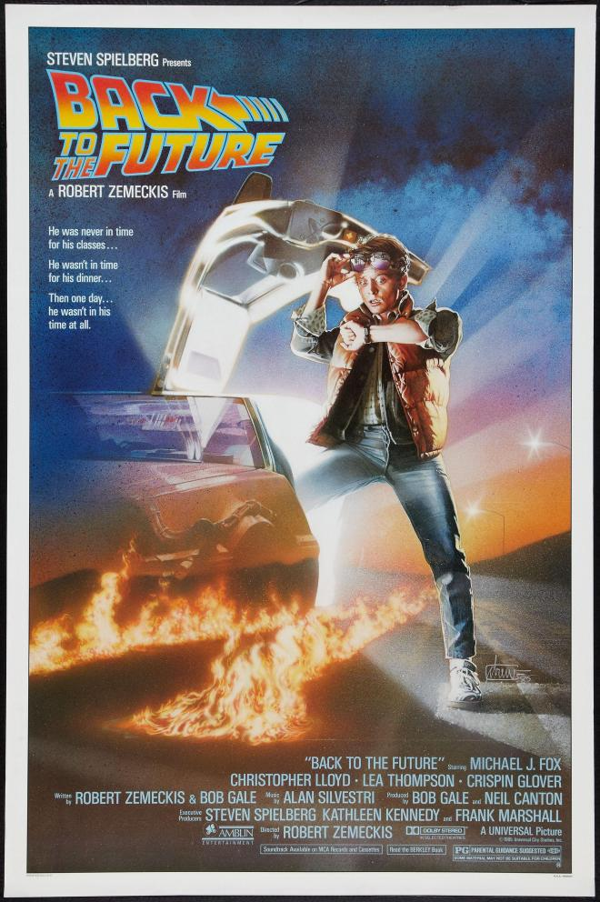 SUBMITTED PHOTO - The 1985 movie poster for 'Back to the Future.'