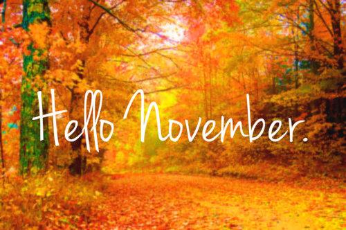 Welcome November 2015