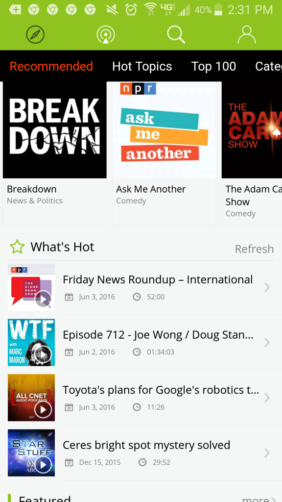 Podbean a great podcast app the homepage of tony burgess