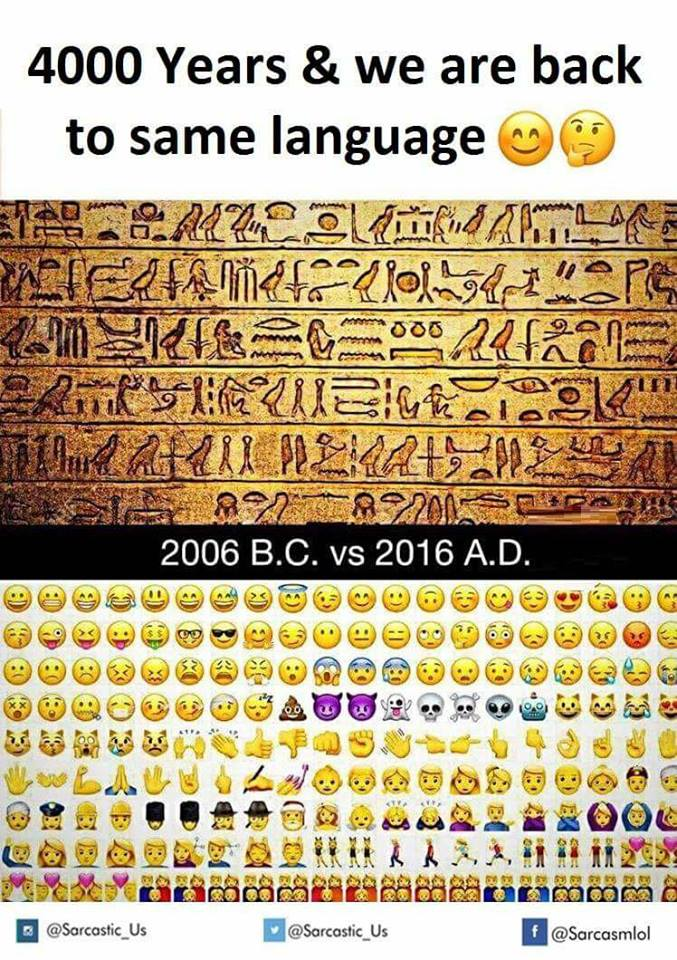 Everything Old is New Again, Ancient Hieroglyphics Modern Emoji ...