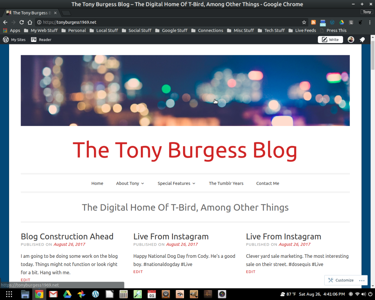 A New Look For The Tony Burgess Blog From A Familiar Theme#wordpress