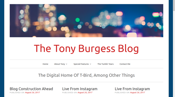A New Look For The Tony Burgess Blog From A Familiar Theme #wordpress