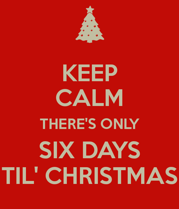 Happy Tuesday Six More Days Til Christmas The Tony Burgess Blog