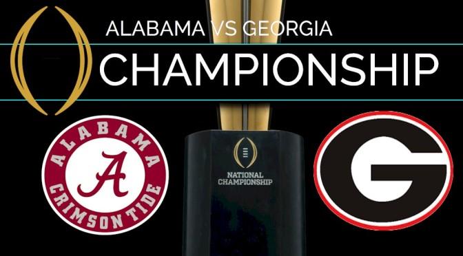 The College Football National Championship Game: Georgia vs. Alabama