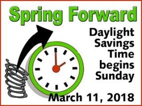 2018-03-11 Daylight Savings Time