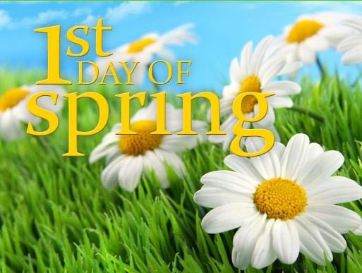 Hello First Day Of Spring – The Tony Burgess Blog