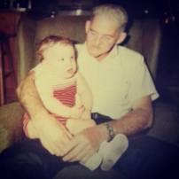 Me and my grandpa Jay Beecher Burgess