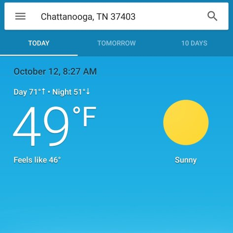 Fall Weather Finally In #Chattanooga | The Tony Burgess Blog